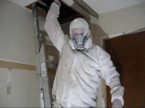 Spray Painting Oil Based Primer Over Smoke Damage in Attic