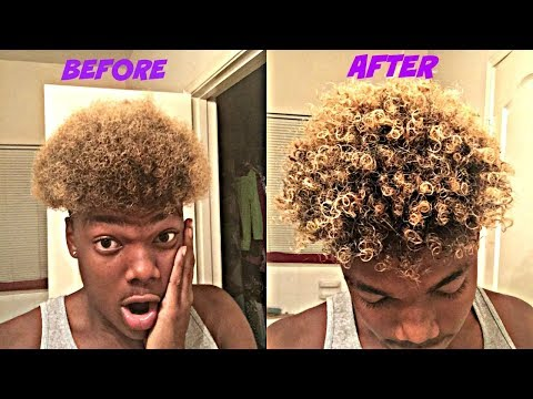 HOW TO GO FROM AFRO TO CURLS  TUTORIAL   (BEST/ FASTEST WAY)