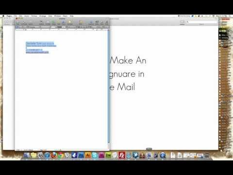 How to add Email Signature in Apple Mail(simple as heck)