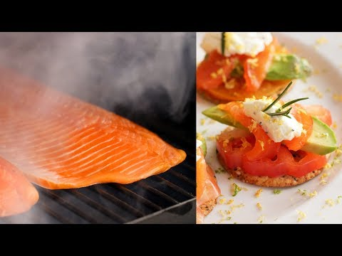 How to Cold Smoke Salmon & Smoked Salmon Cracker Stacks Recipe | Traeger Cold Smoker | BBQGuys.com