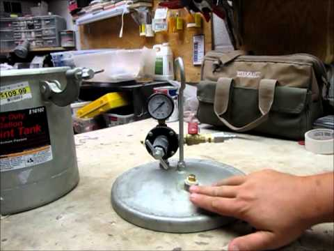 Resin Blank casting pressure pot overview