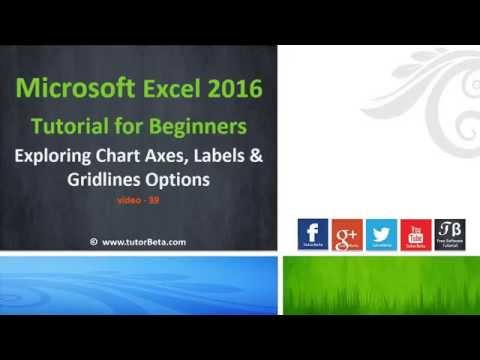 39    Exploring Chart Axes, Labels & Gridlines Options   Microsoft Excel 2016 Beginner Course