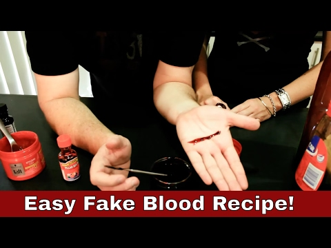 How To Make Fake Blood For Halloween | And a blood paste recipe.