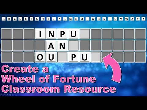 Guess the Phrase (Wheel of Fortune) Classroom Quiz