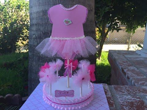 Baby Shower Ballerina Centerpiece