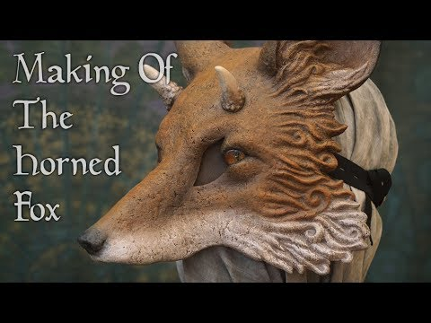 Making of: The Horned Fox (Papier mache mask)