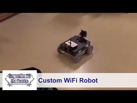 4WD Programmable Arduino Mega WiFi Robot - SuperDroid Robots
