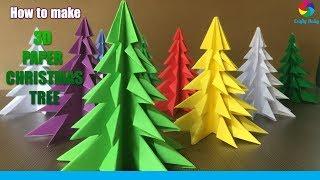 3D Paper Christmas Tree | How to Make a 3D Paper Xmas Tree DIY Tutorial