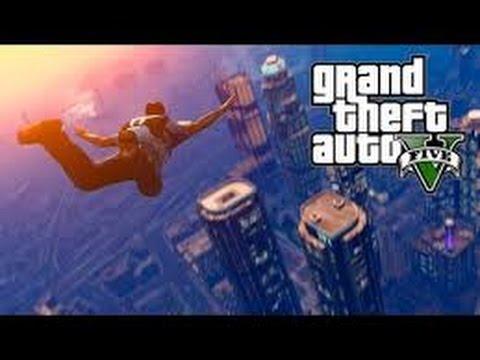 GTA 5- Parachuting Across The Map