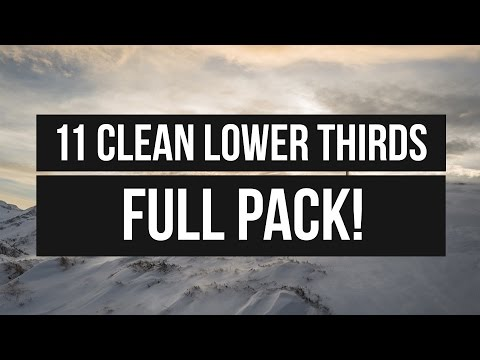 FREE Professional Lower Thirds Template - 11 Lower Thirds │ Full PACK!