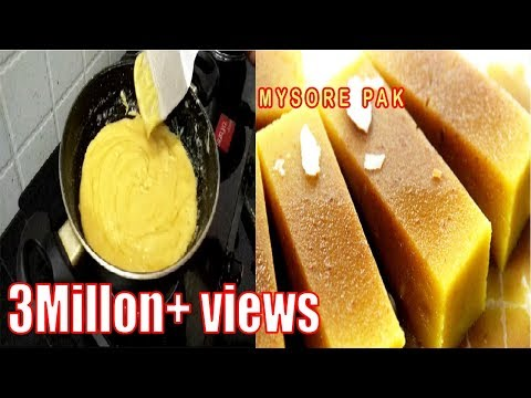 Mysore pak Sweet Recipe In Tamil|Ghee (Nei Mysore Pak|Diwali Sweet Recipe Youtube (நெய் மைசூர் பாக்)
