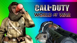 Get to the Chopper! (Call of Duty WaW Zombies Custom Maps, Mods, & Funny Moments)