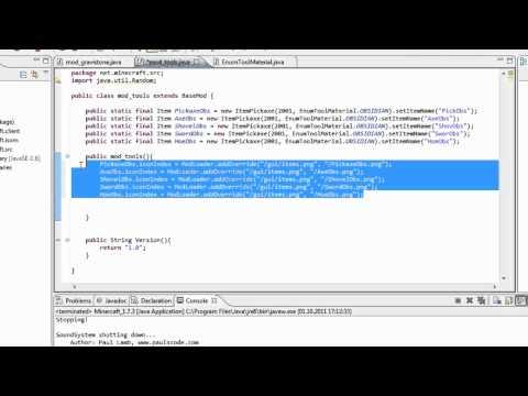 Minecraft Modden - Eigene Tools mit ModLoader