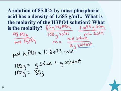 Molarity-Molality-Mass percent