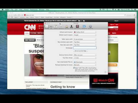 How to Change Homepage in Safari