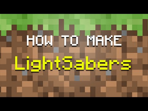 How To Make LightSabers In Minecraft! I Tutorial