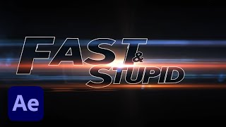 How To Create an Amazing Trailer Title Like in Fast and Furious Movie with After Effects Tutorial