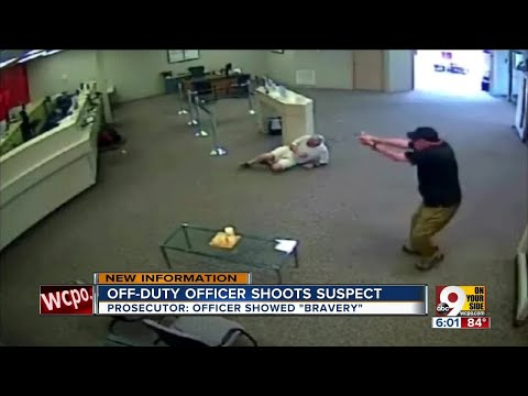 Off-duty officer shoots bank robbery suspect