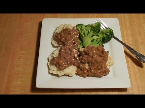 Ground Beef Gravy and Biscuits - E216
