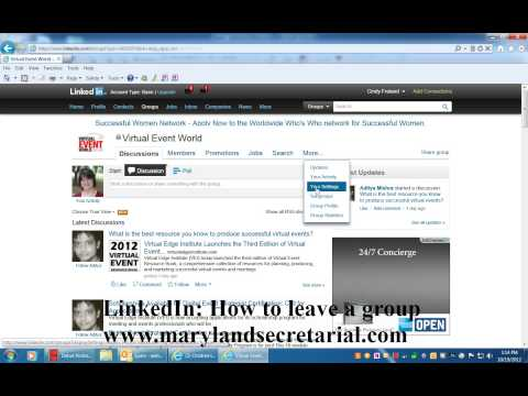 LinkedIn: How to leave a group by Cindy Freland
