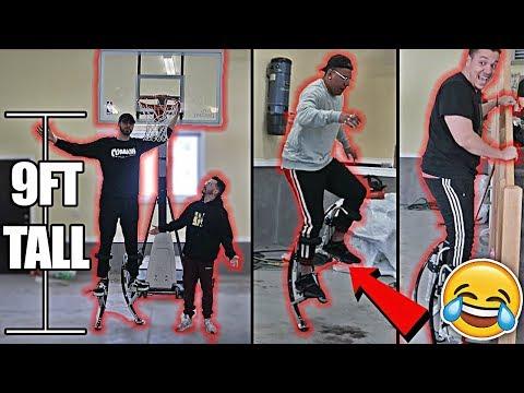 TEAM ALBOE TRIES SUPERHUMAN ROBOT LEGS!! *HILARIOUS FAILS*