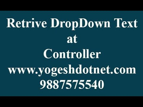 get selected text of dropdown in mvc | hindi
