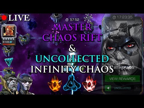 LIVE: Master Chaos Rift & Uncollected Infinity Chaos 100% | Marvel: Contest of Champions