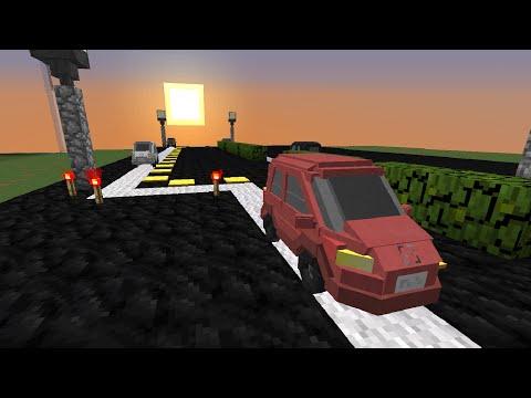 Moving Cars in Vanilla Minecraft!