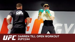 DARREN TILL OPEN WORKOUT WITH DAN HARDY COMMENTARY   - UFC 244
