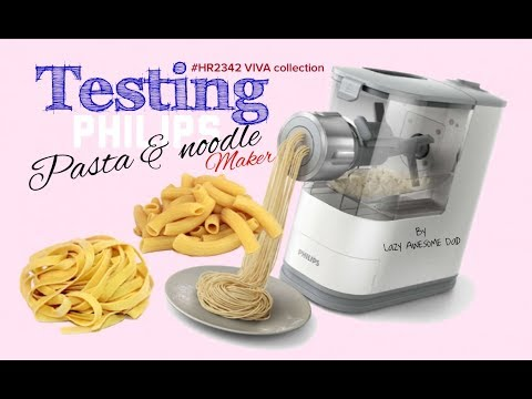 Making Pasta with the new Philips Pasta and noodle maker VIVA Collection compact HR2342 How to clean