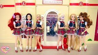 Barbie doll School Setting up with Barbie Science Lap Playset & Barbie Art Studio Playset