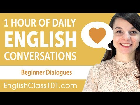 1 Hour of Daily English Conversations - English Practice for Beginners