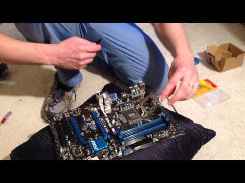 How to replace cpu socket cover on MSI Z77A-G41