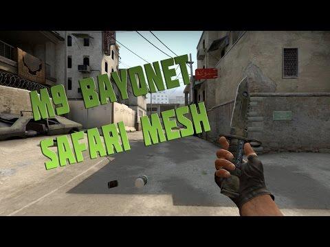 CS:GO Skin Showcase - M9 Bayonet   Safari Mesh