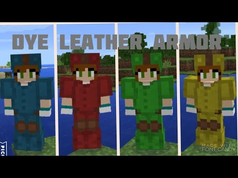 How to dye leather armor - Minecraft PE
