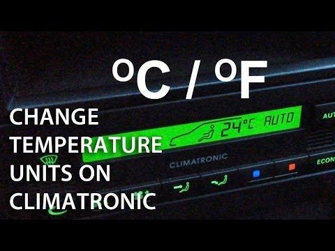 How to change temperature between celsius / fahrenheit in Climatronic (Skoda Octavia Superb Passat)
