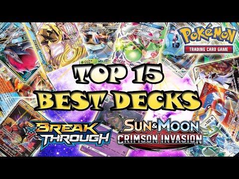 Top 15 Decks 2017-2018 (w/ Decklists) - BKT- Crimson Invasion - Pokemon TCG - Best Decks