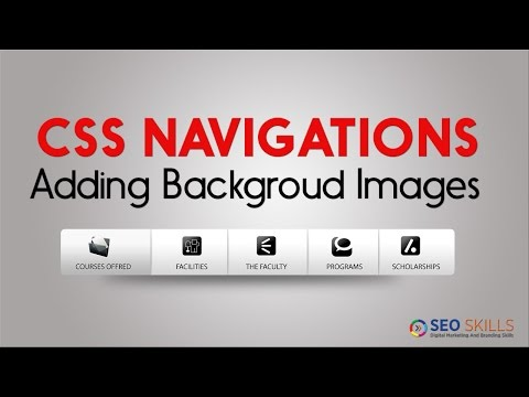 How to Add cool small gradient images for Navigation Elements -  CSS telugu tutorial