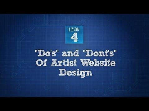Build An Artist Website 4 of 6: Site Design