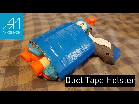 Cardboard N Duct Tape Cheapo Nerf Holster!