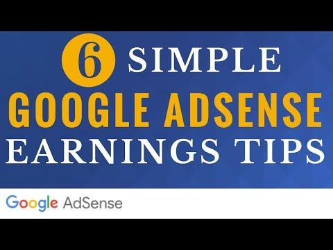 6 Google AdSense Tips to Increase Earnings - 6 Simple Google AdSense Earnings Tips