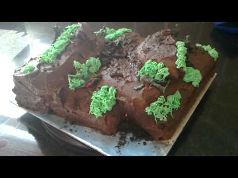 Army / Battlefield Chocolate Birthday Cake