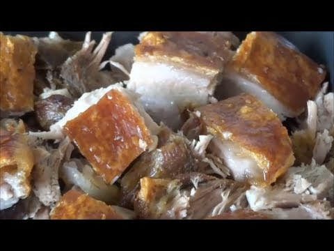 How to make a Pork Crackling with a tender juicy meat using Convection Oven