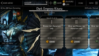 Mortal Kombat X IOS & Android/ Dark Empress Challenge and Requirements | Early Access Pack