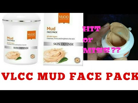 VLCC MUD FACE PACK || BEST FACE PACK FOR OILY SKIN || BEST FACE PACK FOR DRY SKIN