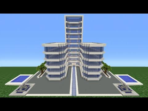 Minecraft Tutorial: How To Make A Modern Hotel -  3