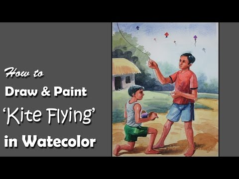 How To Draw A Kite Step By Step Drawing School Drawing Art Kit E