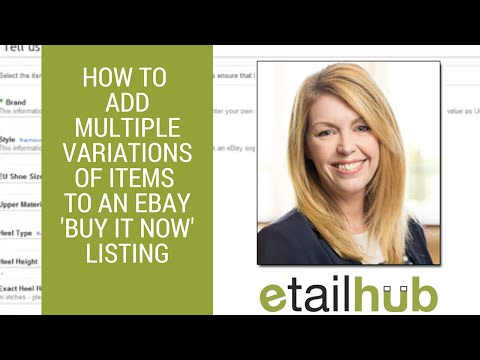 eBay 'Buy It Now' selling tips: How to add multiple item variations to a listing