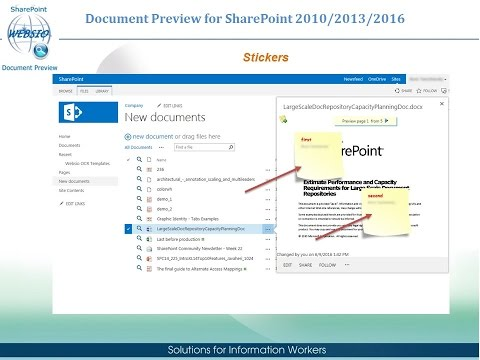 Websio SharePoint Document Preview
