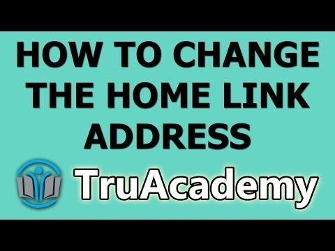 How to change the home link address
